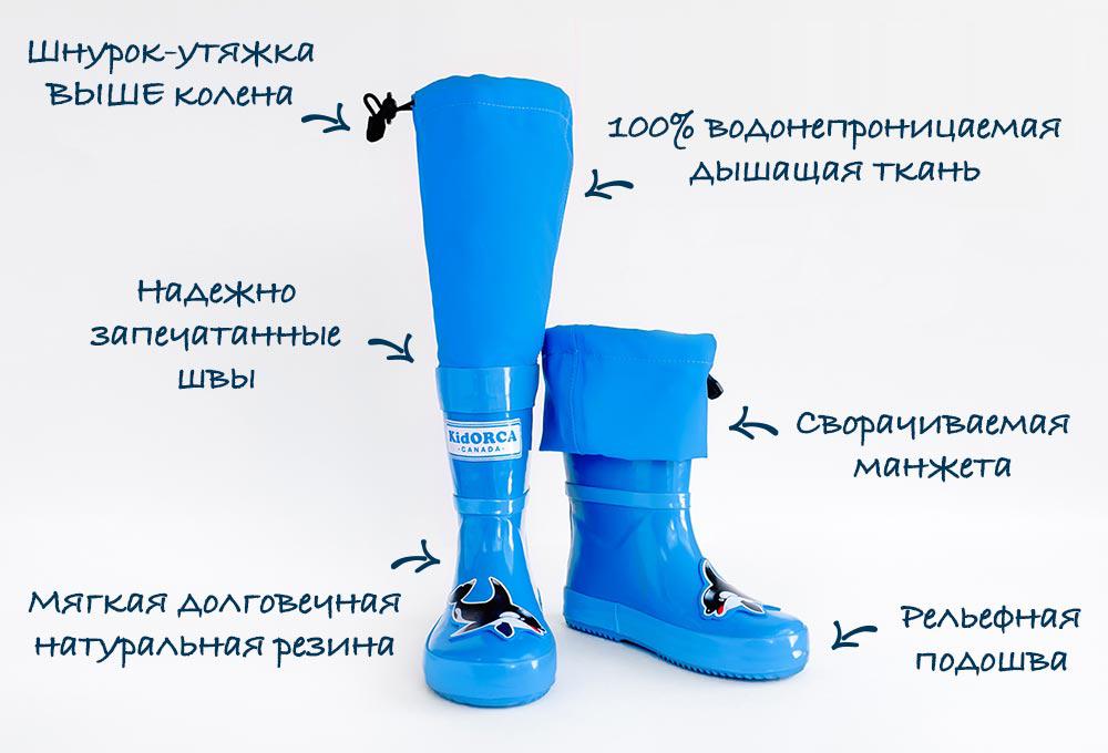 Детские резиновые сапоги для луж MyPuddle Boots от KidORCA, Канада